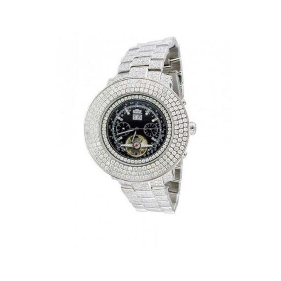 Freeze Mens Jumbo Face Diamond Watch FR-397
