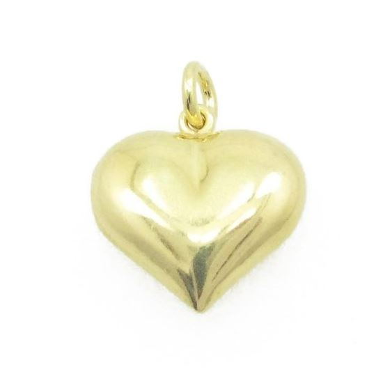 Ladies .925 Italian Sterling Silver yellow heart pendant Length - 18mm Width - 14.5mm 1
