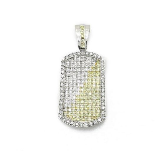 Mens .925 Italian Sterling Silver dog tag pendant Length - 2.72 inches Width - 1.12 1