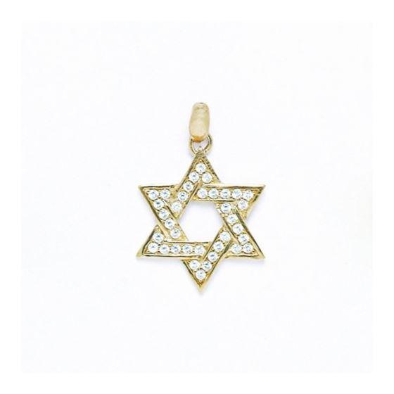 14K Gold Star Of David Pendant P56