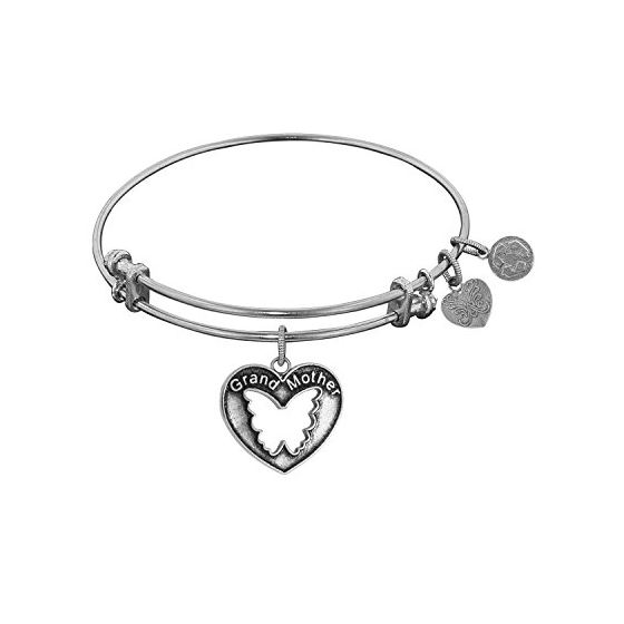 Angelica Ladies Mom and Family Collection Bangle Charm 7.25 Inches (Adjustable) WGEL1008