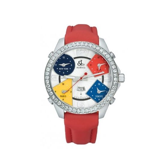 Jacob  Co. Five Time Zone Watch