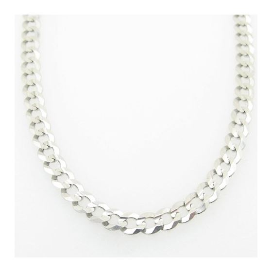 Mens White-Gold Cuban Link Chain Length - 20 inches Width - 4.5mm 3
