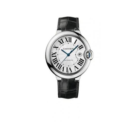 Cartier Ballon Bleu Polished 18K White Gold Mens Watch W6901351