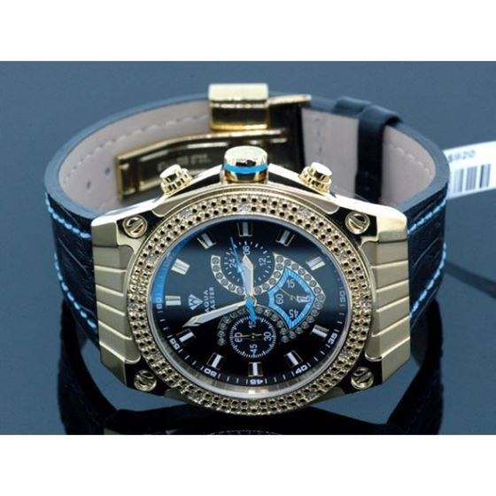 Aqua Master Mens Yellow Gold Diamond Watch